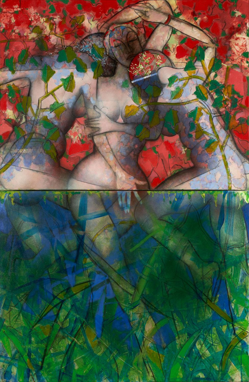 Bain de jouvence - 2019 - Acrylique sur toile 182x117