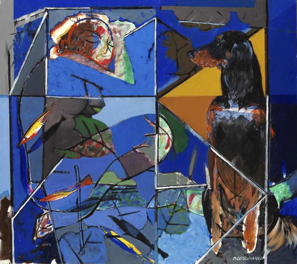 Lara - Acryl sur toile 120x135 - 2005