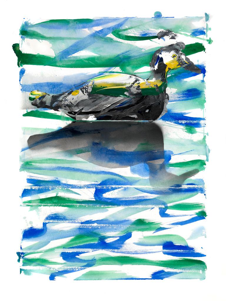 04- Un canard sur un lac était… Moralité : le canard laquais