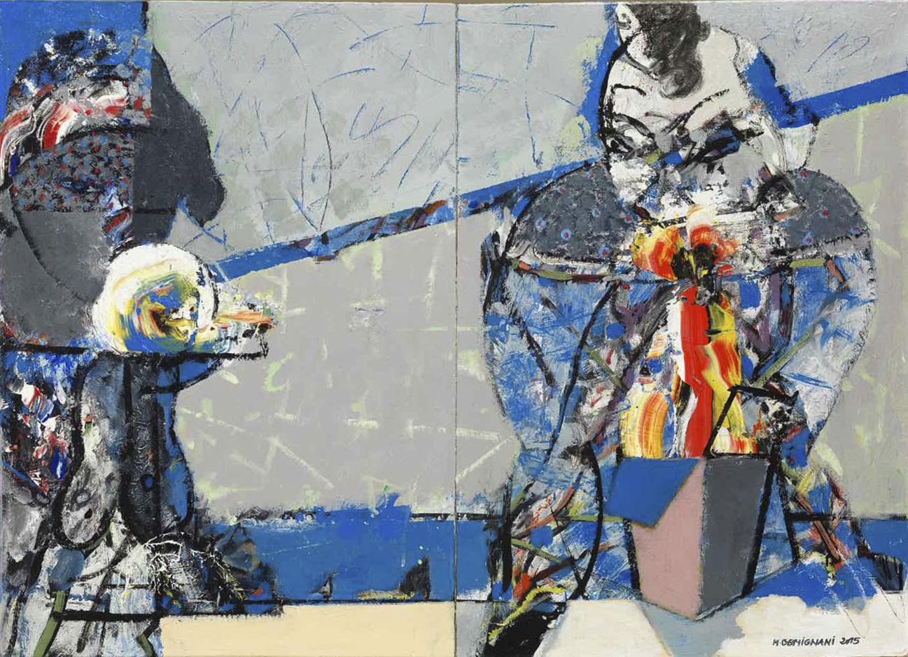 Les mangeuses de desert II - Acryl sur toile - 73x100 - 2015