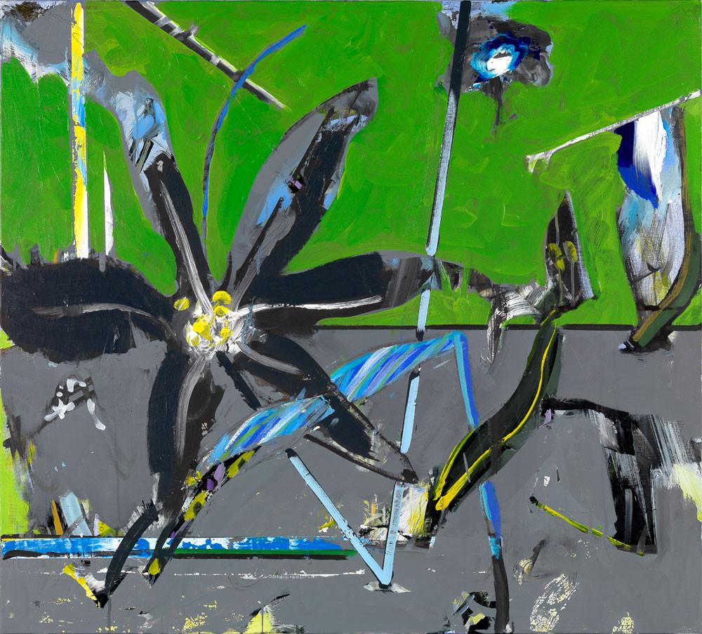 Fleur du mâle - 2012 - Acrylique sur toile / 90x100 cm