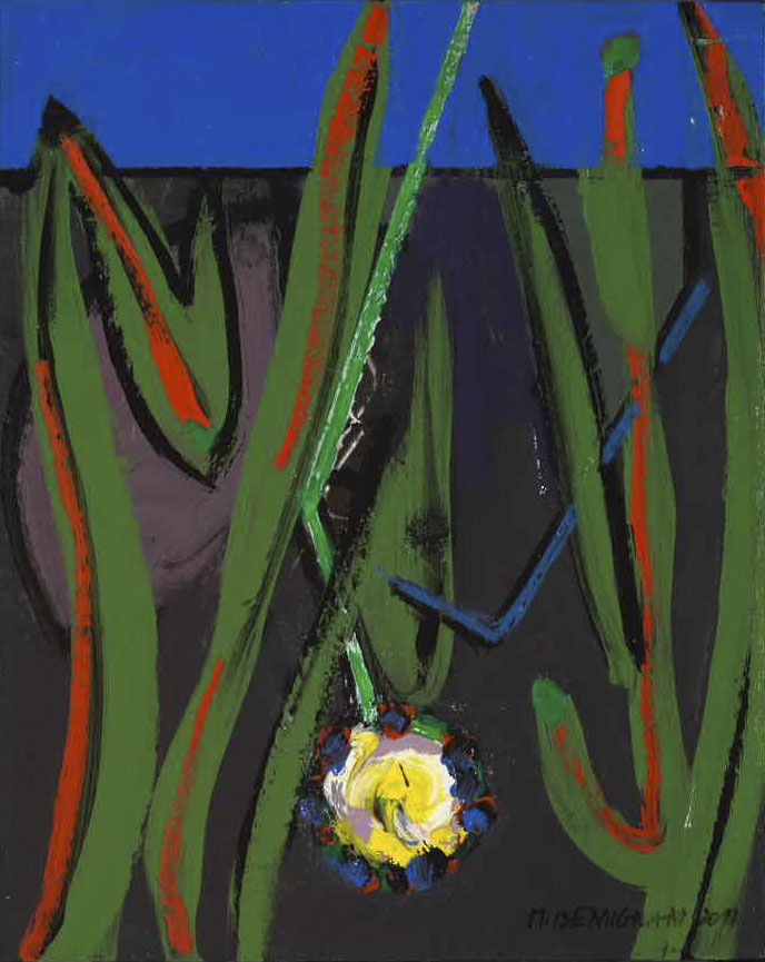 L'intruse - Acryl sur bois - 41x33 - 2013