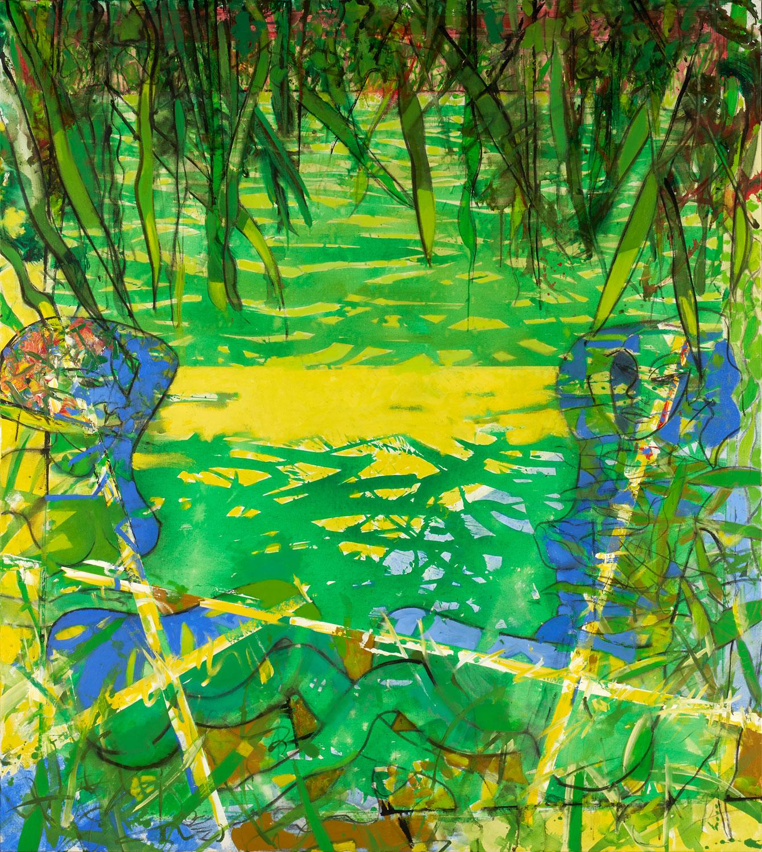 """""""Sous le soleil exactement"""" - 2019 - Acrylique sur toile 180x160"""