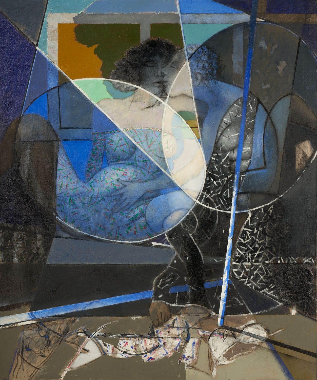 Les demoiselles du bord de la scène - 2018 - Acrylique sur toile  180x150