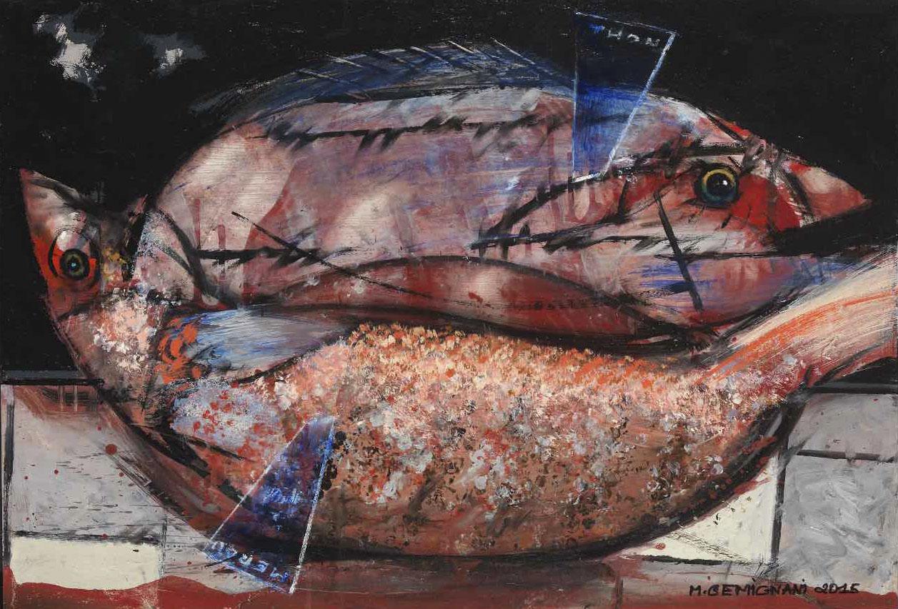 Mérou-Thon - Acryl sur toile - 51x73 - 2015