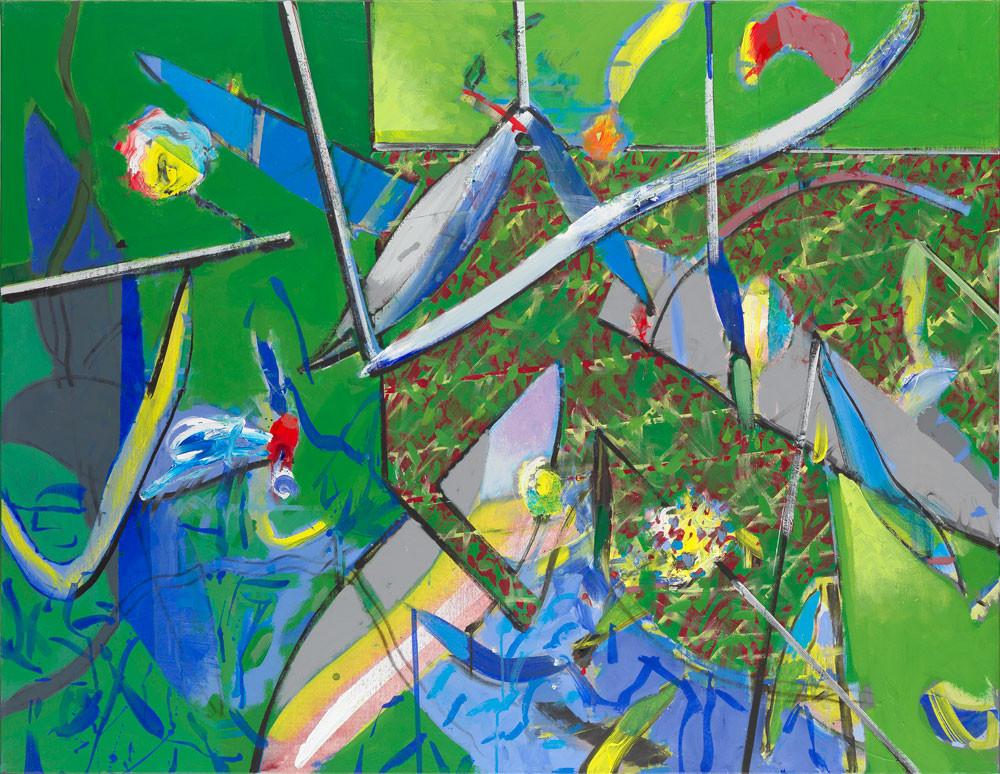 Marais Poitevin #1 - 2013 - Acrylique sur toile / 114x146 cm