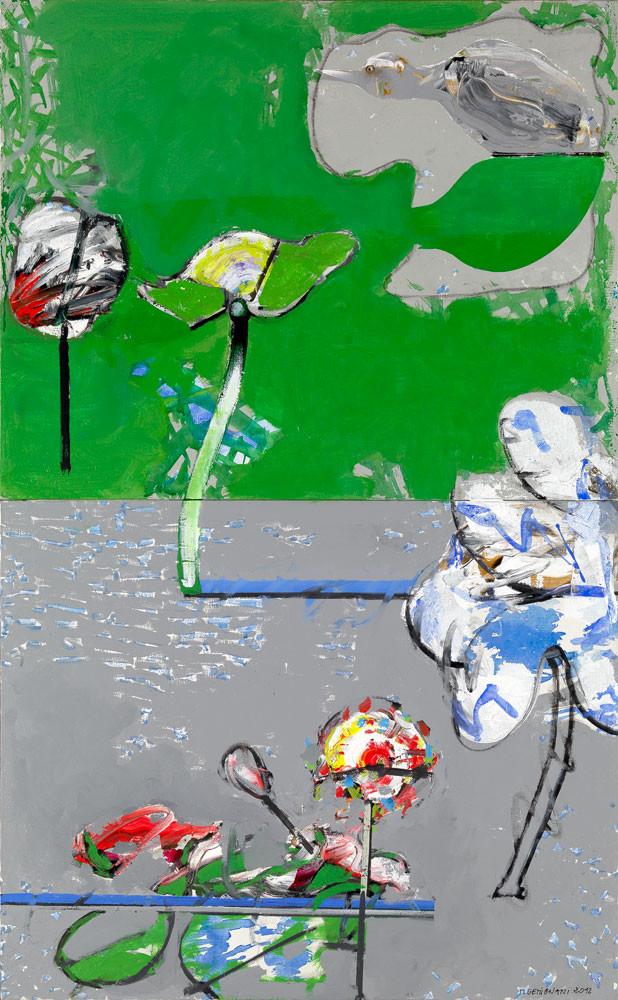 Retour au canard - 2013 - Acrylique sur toile / 148x92 cm