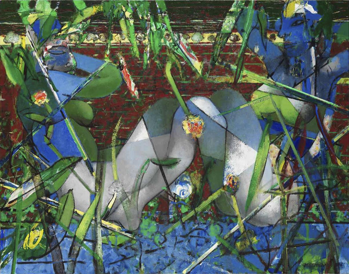 Marais-poitevines - Acryl sur toile - 114x146 - 2016