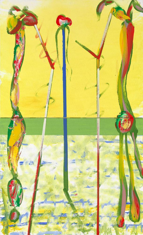 L'ordre des orthoptères - 2013 - Acrylique sur toile / 120x73 cm