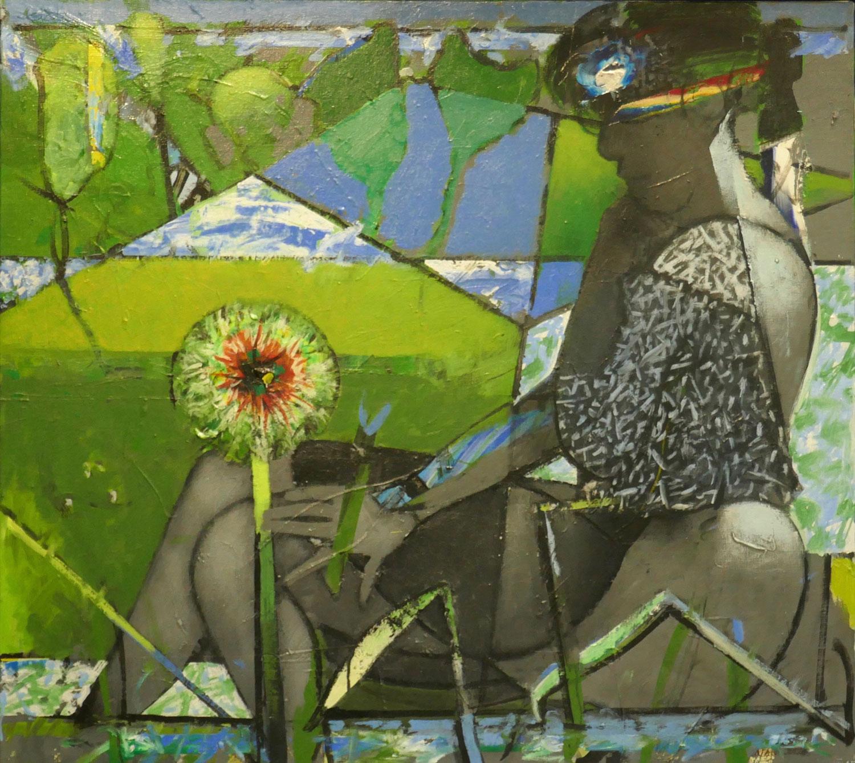 La fleur du mâle - 2016/2018 - Acrylique sur toile 90x100