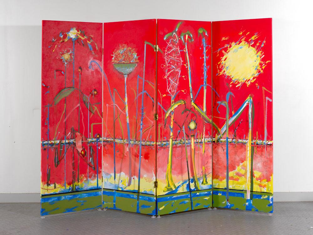 Paravent 4 panneaux - 2013 - Acrylique sur toile / 180x240 cm