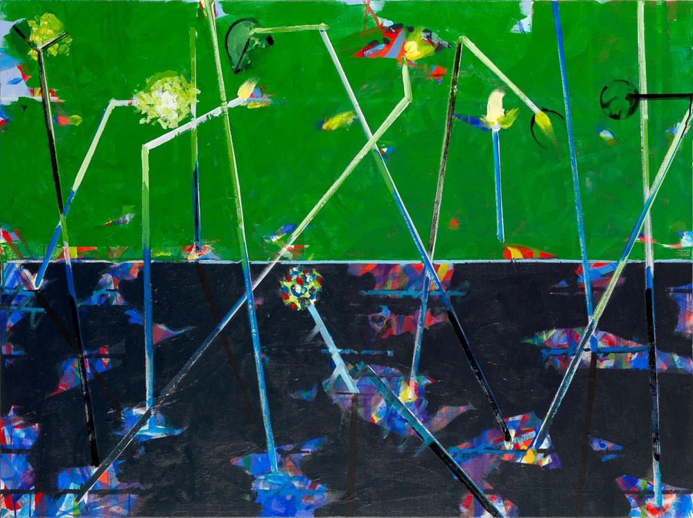 Le vert est en eau - 2013 - Acrylique sur toile / 97x132 cm