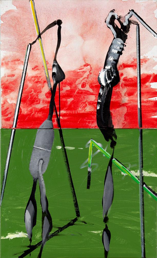 Mantes à l'eau - 2013 - Acrylique sur toile / 100x65 cm