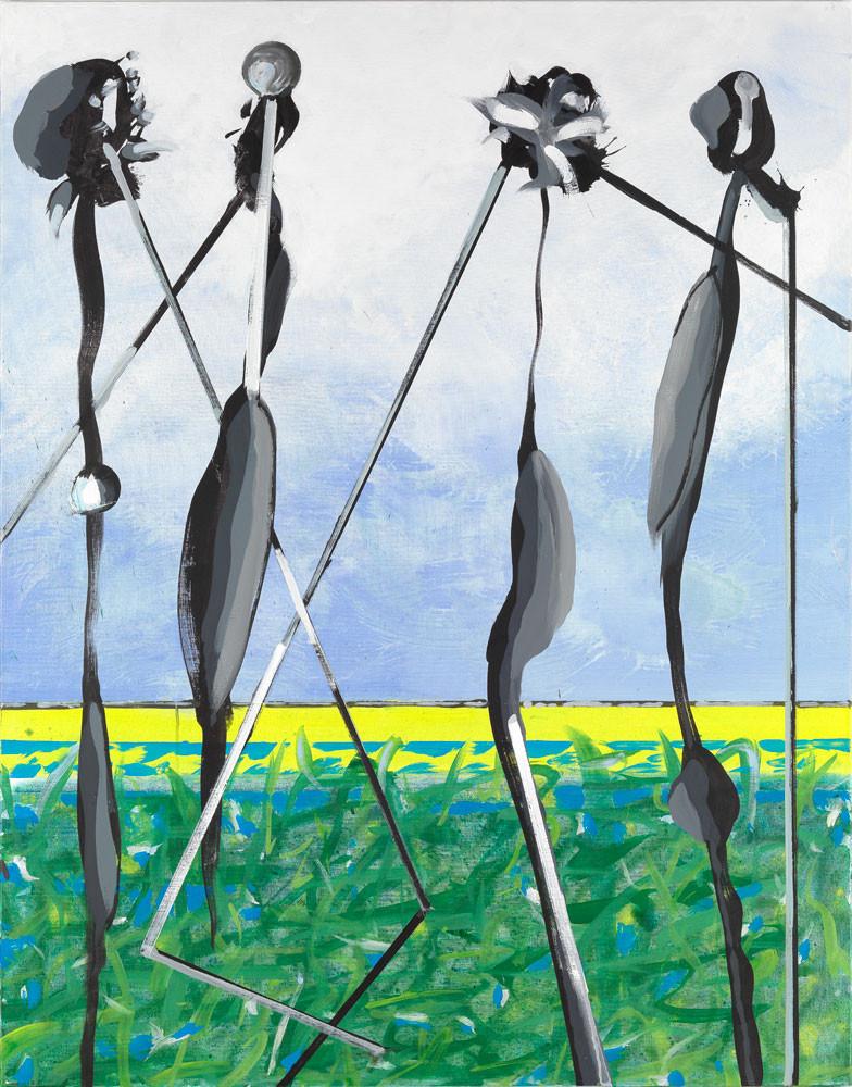 Quatuor à cordes - 2013 - Acrylique sur toile / 146x114 cm