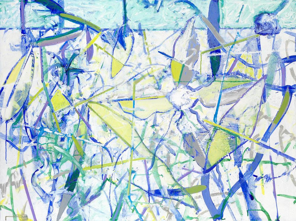 Fleur d'Hyvert - 2012 - Acrylique sur toile / 97x132 cm