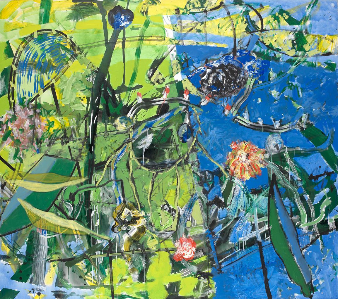 Grand brouillis - Acrylique sur toile 160x181 cm