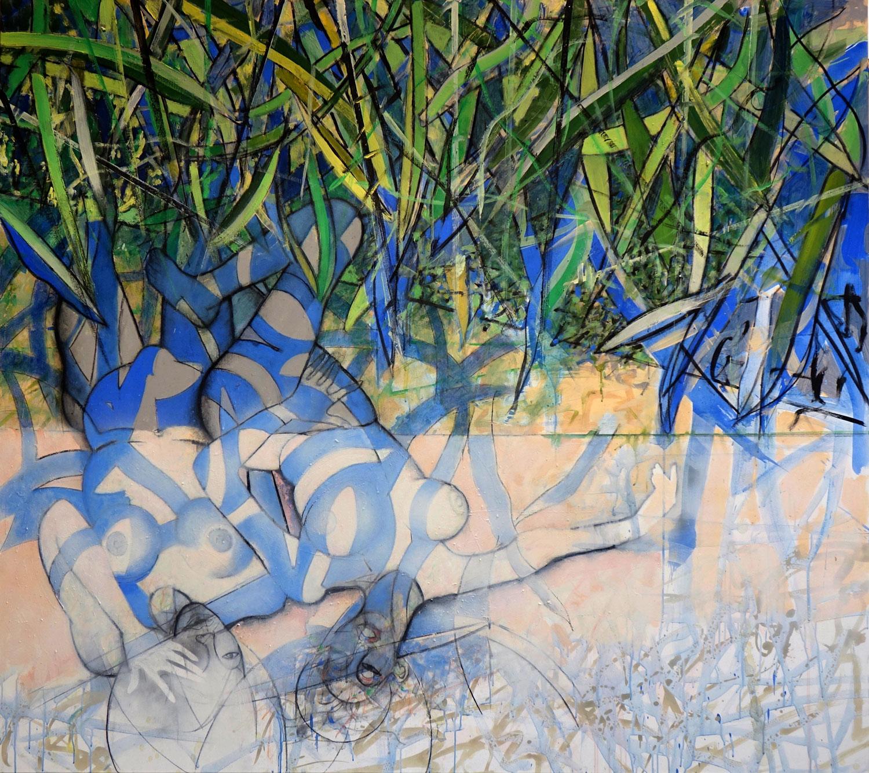 L'ombre d'un songe - 2018 - Acrylique sur toile 160x180