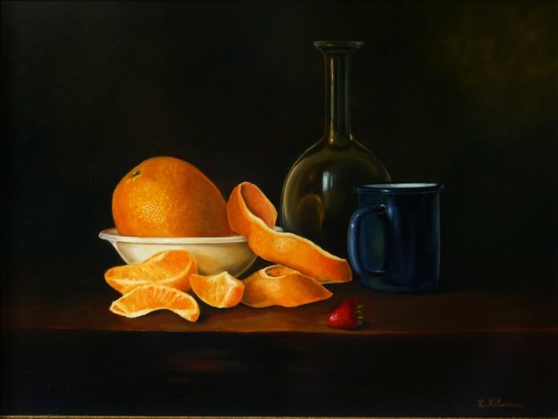 Jus d 'oranges . 65 x 50 . Huile sur toile de Lin . 810 €