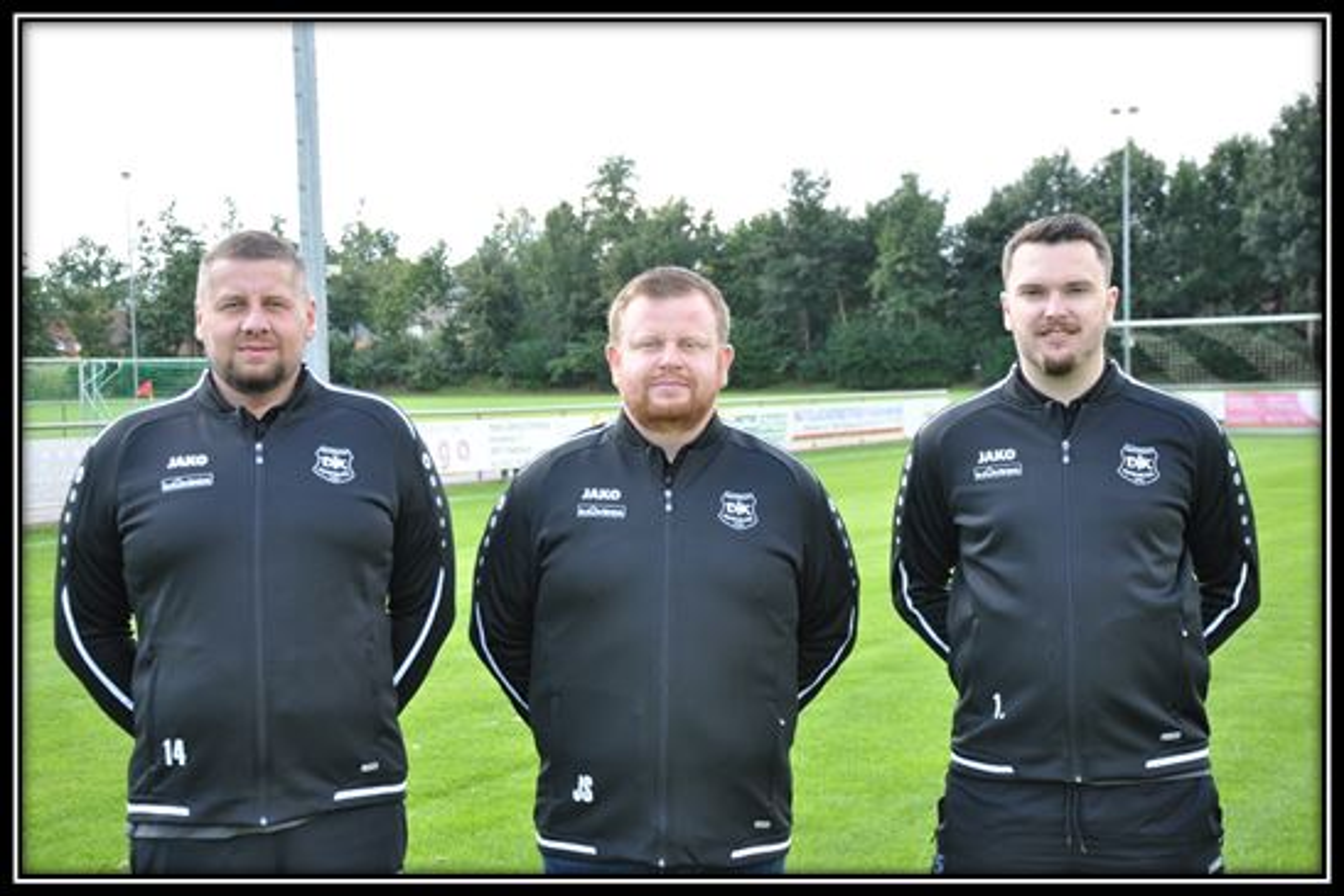 Betreuer Florian Breer, Trainer Jens Schipmann, Betreuer Thorsten Eberg