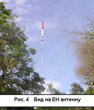 Рис. 4 Вид на ЕН антенну.