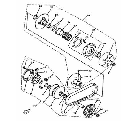 variateur/embrayage