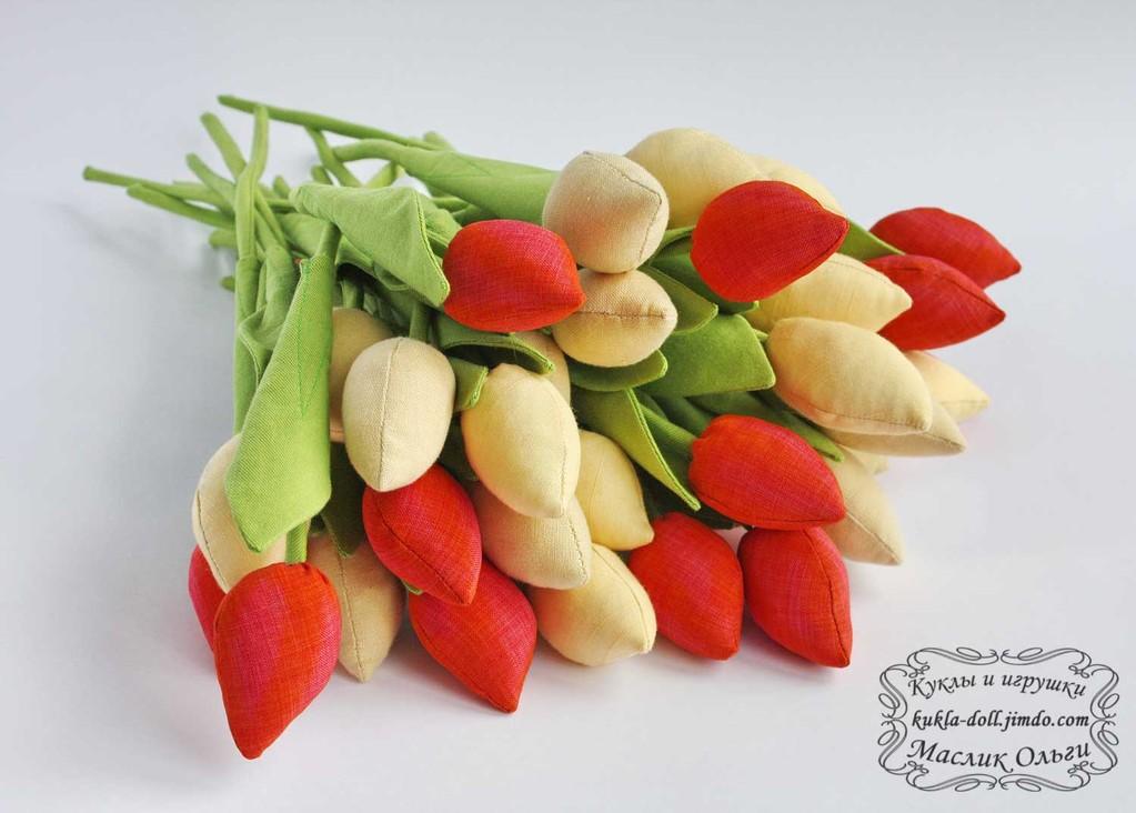 Текстильные цветы. Тюльпаны Тильда