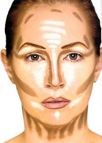макияж лица кукле