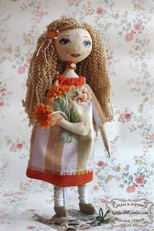 Кукла текстильная, круглоголовка