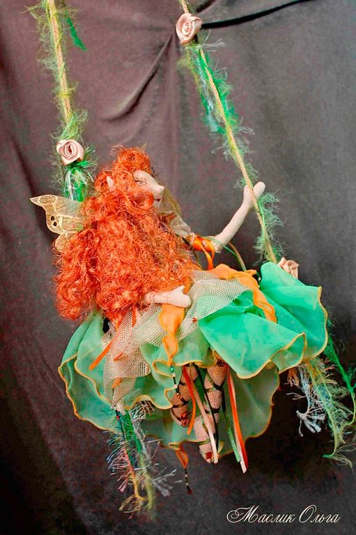 Текстильная кукла, эльф