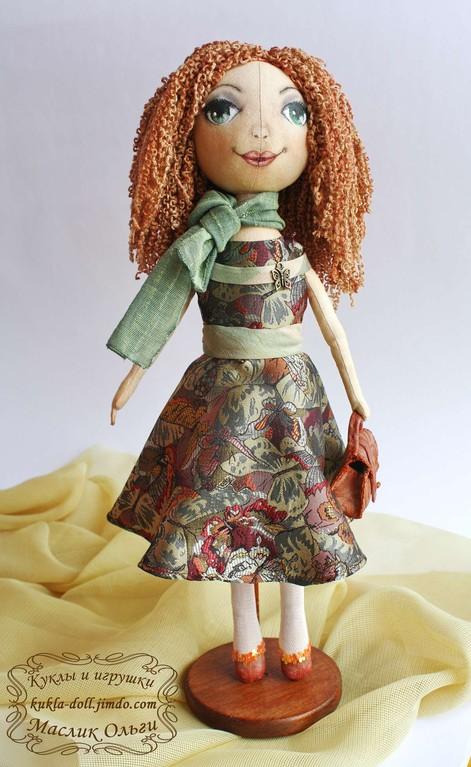 Текстильная кукла. Тыквоголовка