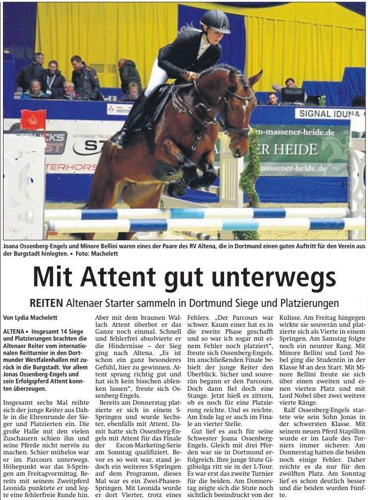 Vielen Dank an das Altenaer Kreisblatt für die freundliche Berichterstattung am 7. März 2017