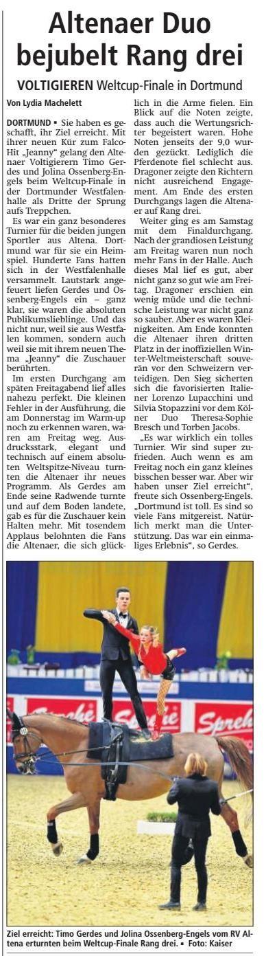 Vielen Dank an das Altenaer Kreisblatt für die gute Berichterstattung am 6. März 2017