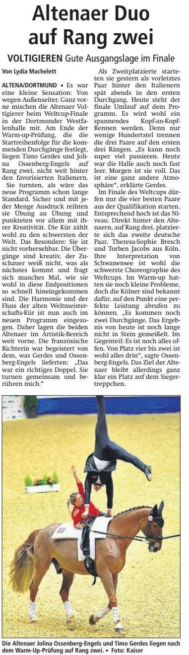 Vielen Dank an das Altenaer Kreisblatt für die gute Berichterstattung am 4. März 2017
