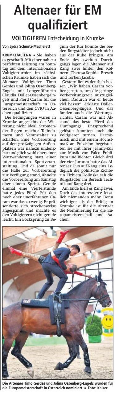 Wir danken dem Altenaer Kreisblatt für die freundlich Berichterstattung in der Ausgabe vom 3. Juli 2017