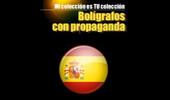 """Impresionante colección de bolígrafos de propaganda de Agustín. No creo que haya una ciudad con más """"bolis"""" que Ciudad Real."""
