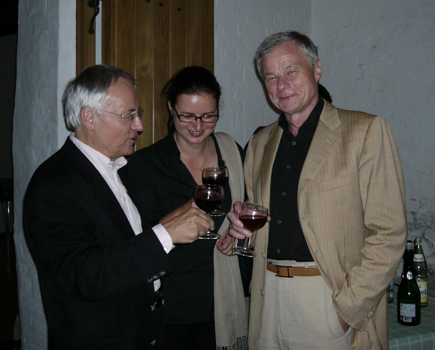 Kirche St. Johannis Lüneburg  22. Juli 2004: Rolf Beck, Sabine Kus, Gunther Pohl (von rechts nach links)