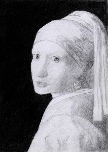 フェルメールより模写 真珠の耳飾りの少女