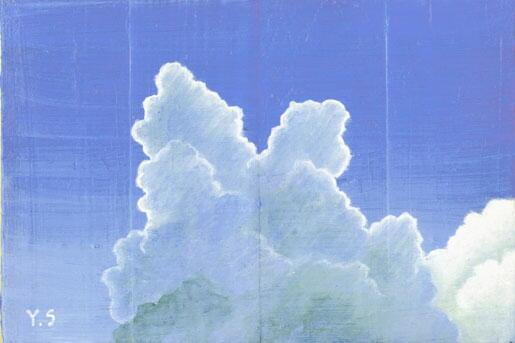 雲(かまぼこ板の絵)