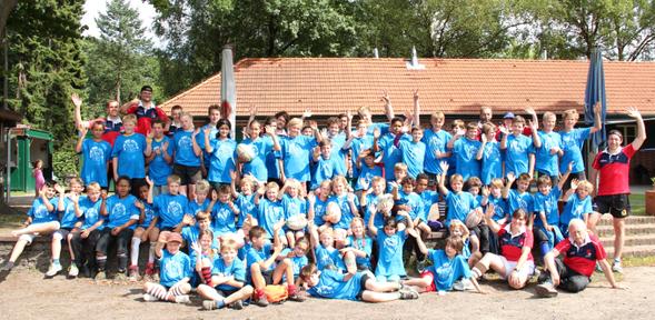 Die Teilnehmer des Hamburger Rugby-Feriencamps hatten eine Woche lang Spaß