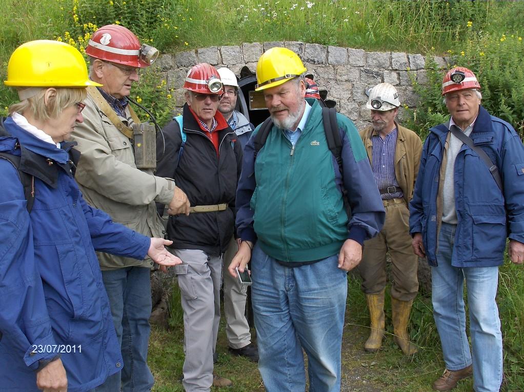 Befahrung  des Beerberger-Stollen in St.Andreasberg mit Dr. Ließmann