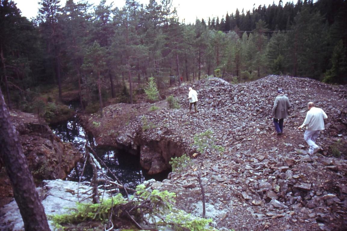Schweden-Exkursion:    Ausgeerzter Gang bei Bergslagen