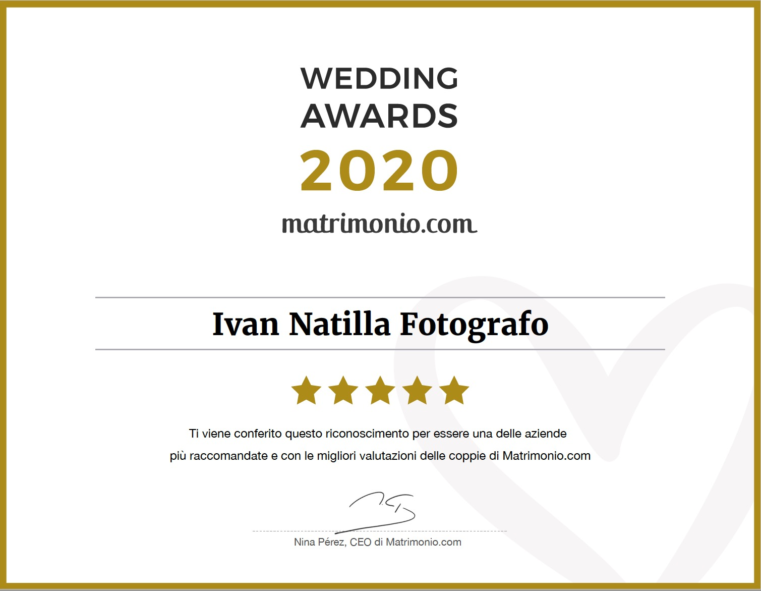 wedding award 2020