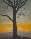 Baum im Abendrot Öl auf Leinwand