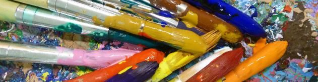 Farbige Pinsel
