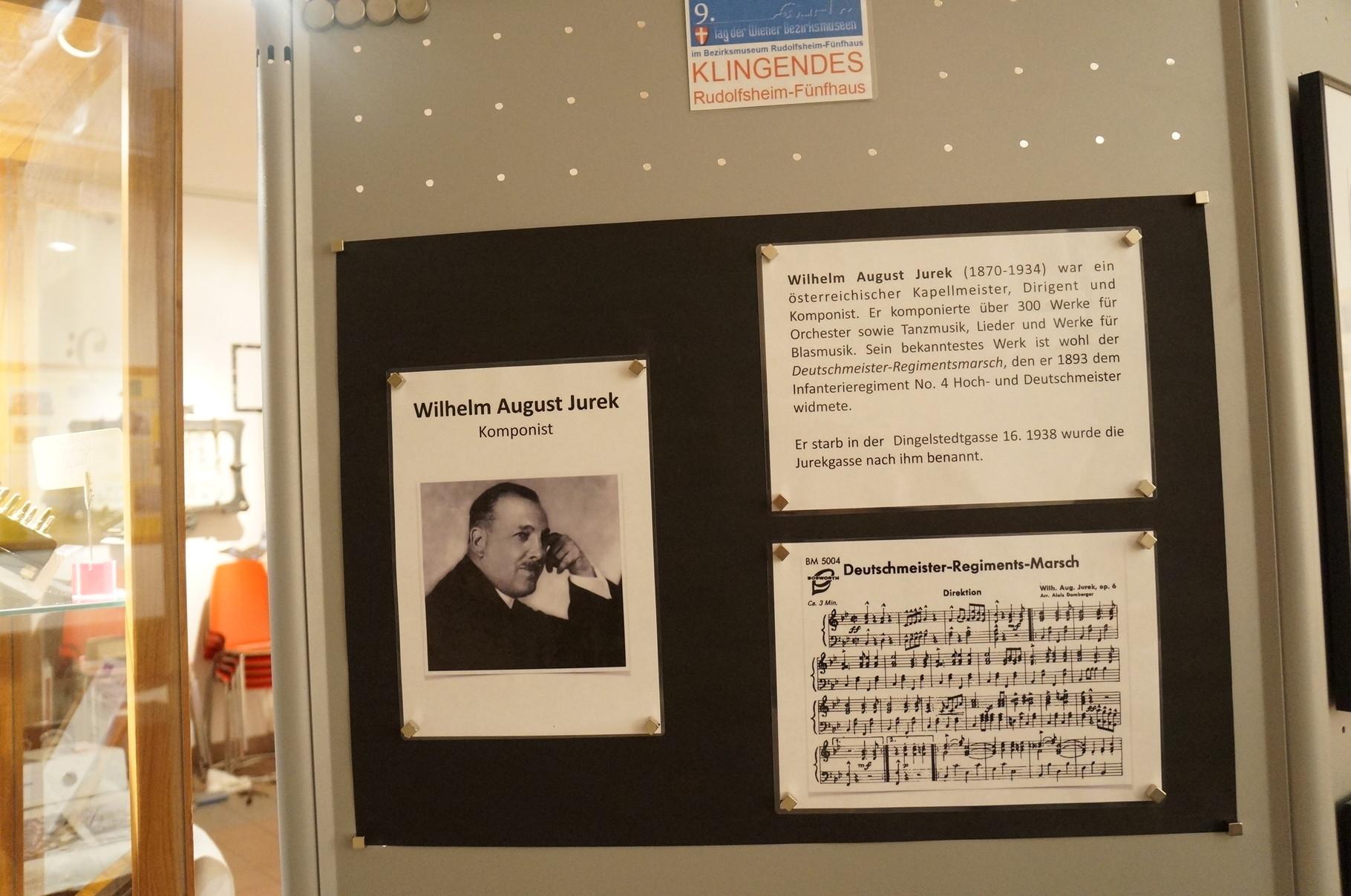 Wilhelm August Jurek (Deutschmeistermarsch) ist aus dem 15.