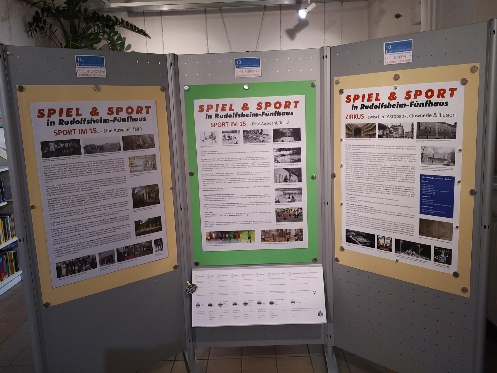 """Im Museum finden Sie viele Informationen zum Thema """"Spiel & Sport in Rudolfsheim-Fünfhaus""""."""