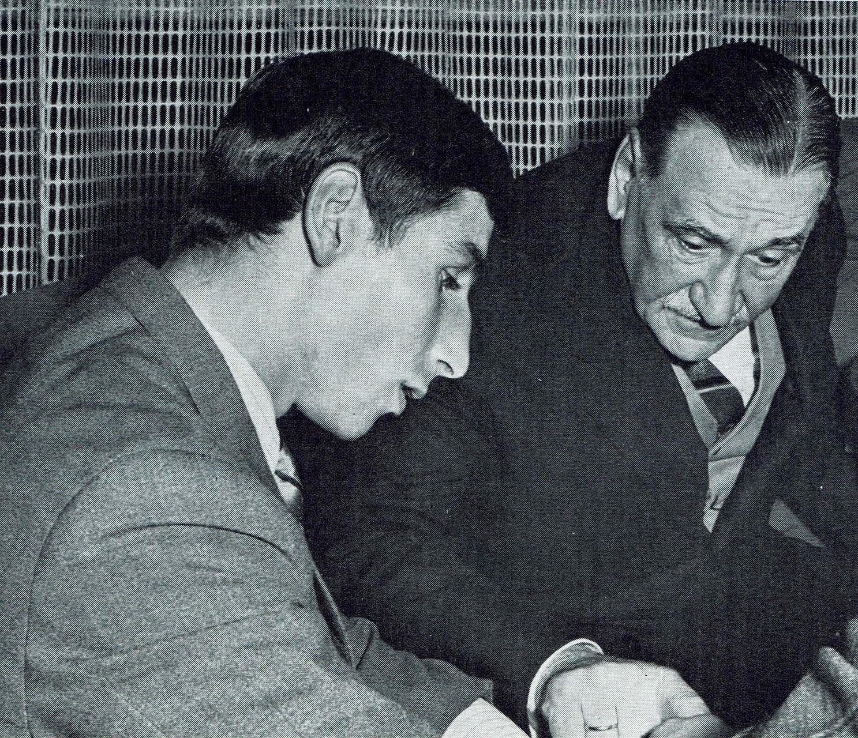 Hans Orsolics 1967 im Gespräch mit dem Wiener Bürgermeister Bruno Marek.