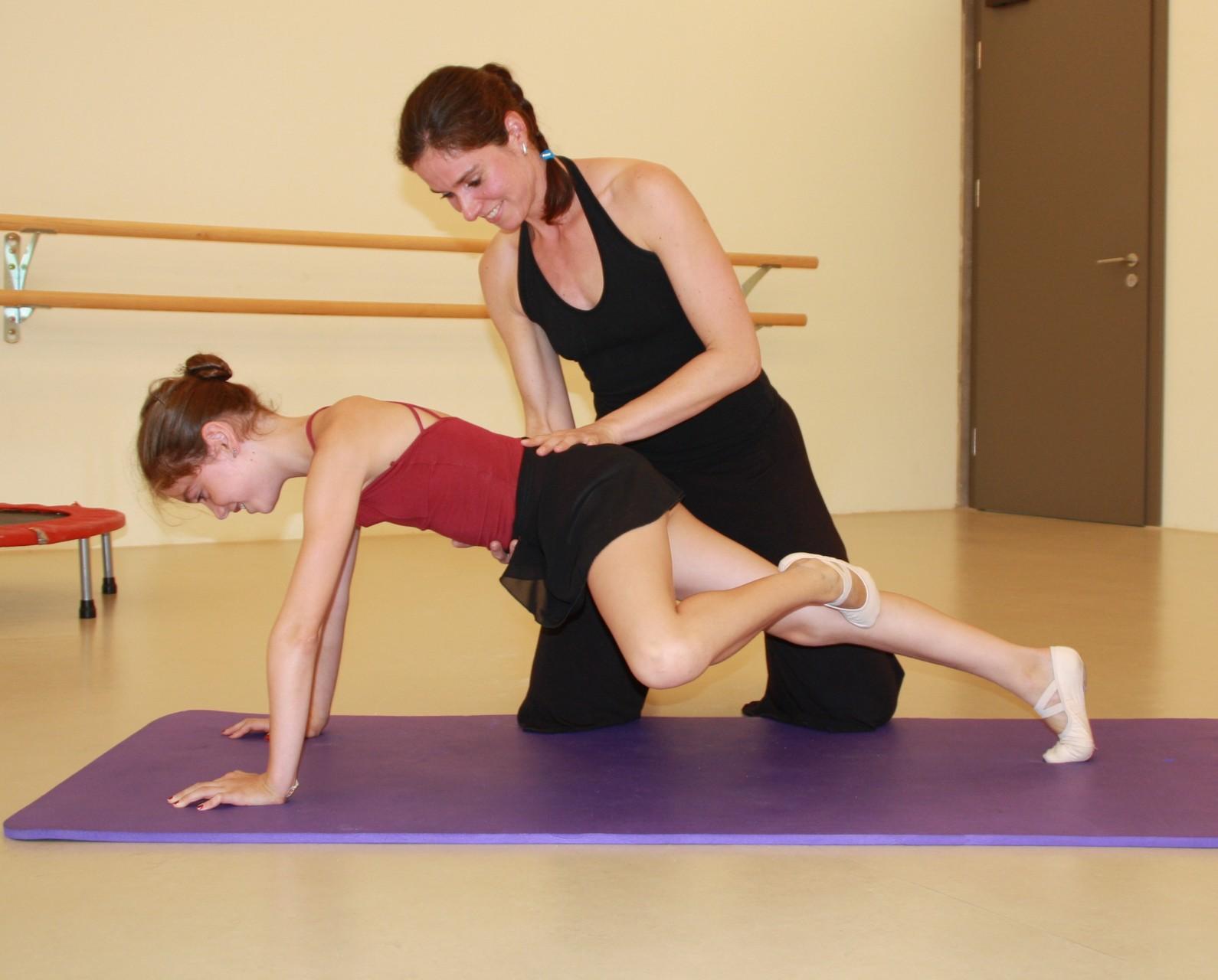 Üben der stabilen Körpermitte