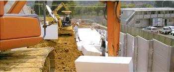 金沢 横河電機取付道路EPS工事 | EPS工法 軽量盛土材