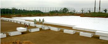 長岡工業高等専門学校 環境整備EPS工事 | EPS工法 軽量盛土材
